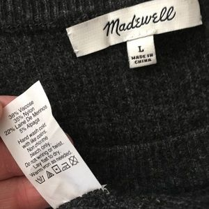 Madewell Sweaters - Madewell Wafflestitch Pullover Sweater/Charcoal